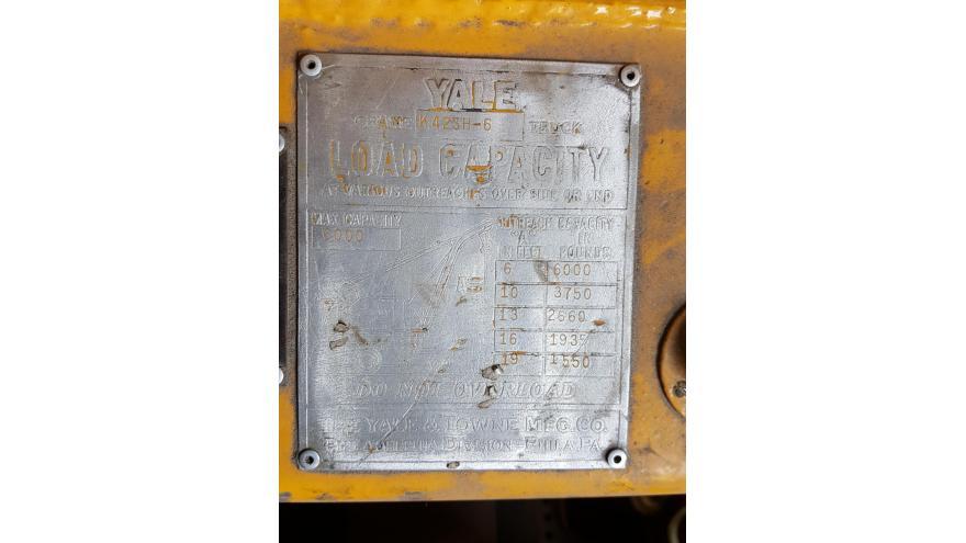 Yale Lift Truck Data Plate - Barclay Brand Ferdon - NJ