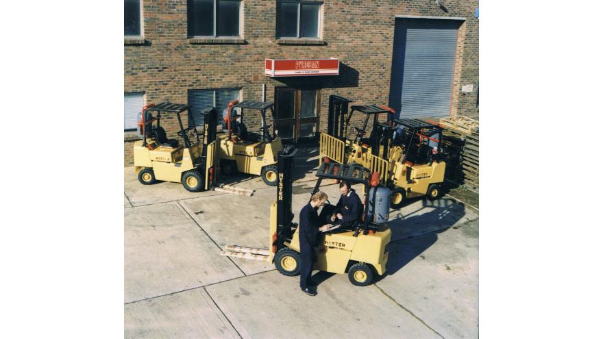 Hyster trucks with Pyroban explosion protection